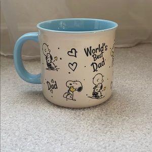 Peanuts Snoopy and Charlie Brown dad mug